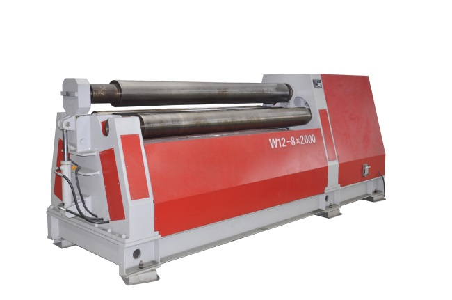 W12 HYDRAULIC PLATE ROLLING MACHINE WITH 4 ROLLS